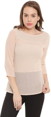 The Vanca Casual 3/4th Sleeve Solid Women