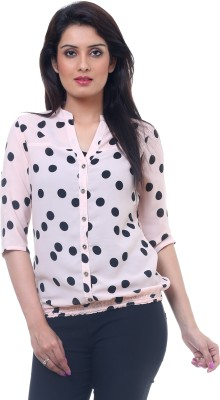 Lynda Casual 3/4 Sleeve Printed Women Pink Top at flipkart