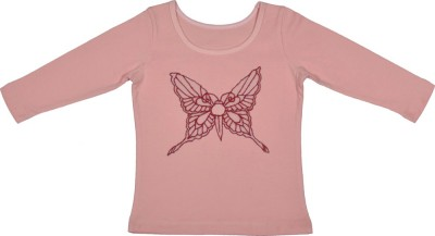 Rute Baby Girls Party Cotton Top(Pink, Pack of 1)