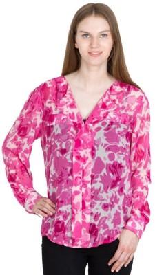 Global Elle Casual Full Sleeve Printed Women's Multicolor Top