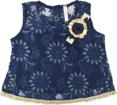 Hunny Bunny Girls Party Lace Top(Pack of 1) at flipkart