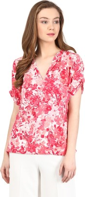 Harpa Casual Regular Sleeve Floral Print Women Pink Top at flipkart