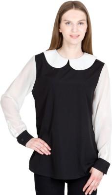 Global Elle Casual Full Sleeve Solid Women's Black Top