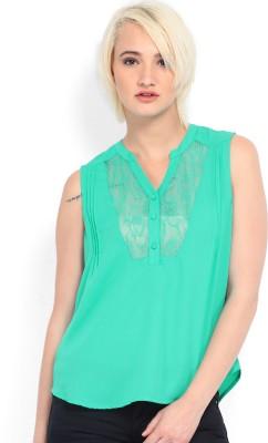 VERO MODA Casual Sleeveless Solid Women Green Top VERO MODA Women's Tops