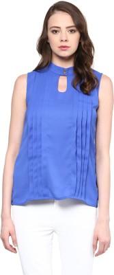 Rare Casual Sleeveless Solid Women Blue Top Rare Women's Tops