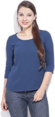 Van Heusen Casual Short Sleeve Solid Women