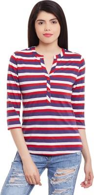 Hypernation Casual 3/4th Sleeve Striped Women