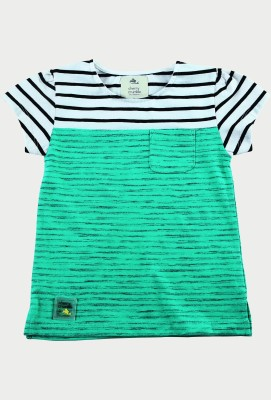 Cherry Crumble California Baby Girls Casual Cotton Top(Green, Pack of 1) at flipkart
