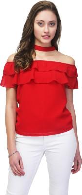 6dd0c5b4b3c16 70% OFF on Falguni Fashion Sleeveless Women s Red Top on Amazon ...