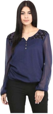 Jollify Casual 3/4th Sleeve Solid Women