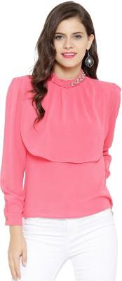 Sassafras Casual 3/4 Sleeve Embellished Women Pink Top