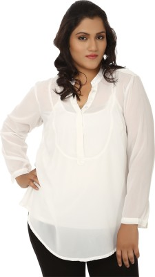 dca056dbd2d LASTINCH Casual 3 4th Sleeve Solid Women s White Top