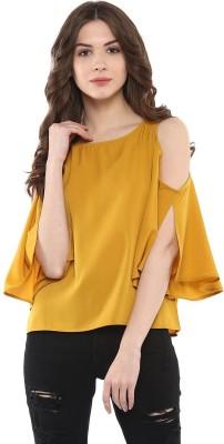 Buy Harpa Casual Solid Women's Multicolor Top