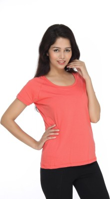 View Bongio Casual Short Sleeve Solid Women s Pink Top Price Online bfb049226