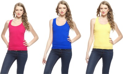Friskers Casual Sleeveless Solid Women