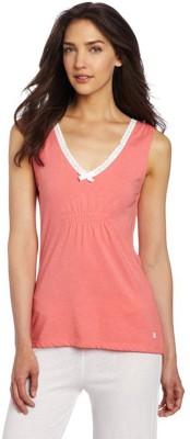 Kotty Casual Sleeveless Solid Women Pink Top at flipkart