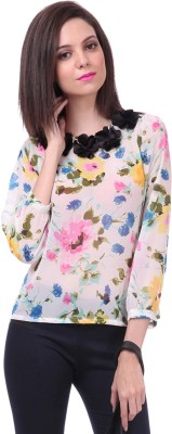 Sassafras Casual Regular Sleeve Printed Women Multicolor Top at flipkart