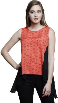 Trendsnu Casual Sleeveless Printed Women Multicolor Top