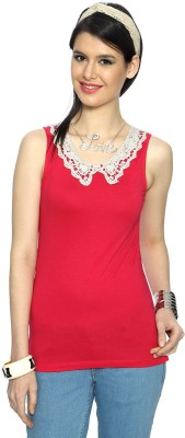 Honey By Pantaloons Casual Sleeveless Solid Women Pink Top at flipkart