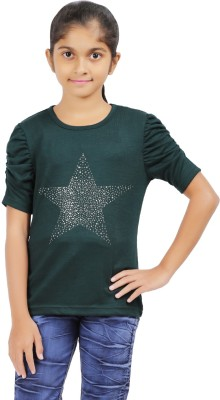 52d4ccbf9c3bb 69% OFF on VAANYA Casual Bell Sleeve Solid Women s Dark Green Top on ...