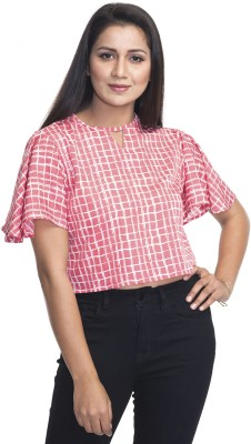 The Bebo Casual 3/4th Sleeve Checkered Women