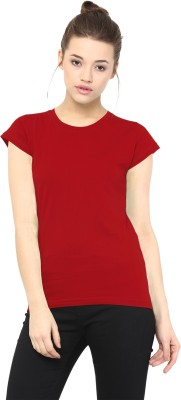 Miss Chase Casual Short Sleeve Solid Women's Red Top