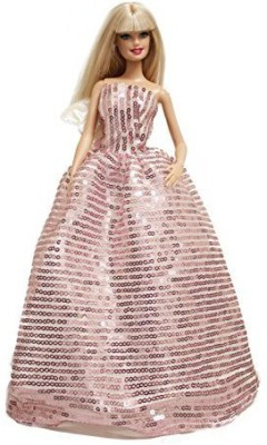 Peregrine Clothing & Shoes Toy Accessory(Barbie, Dazzling, Sequins, Wedding, Dress Multicolor)