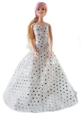 Peregrine Clothing & Shoes Toy Accessory(Barbie, Sequins, Wedding, Dress, Bride Multicolor)