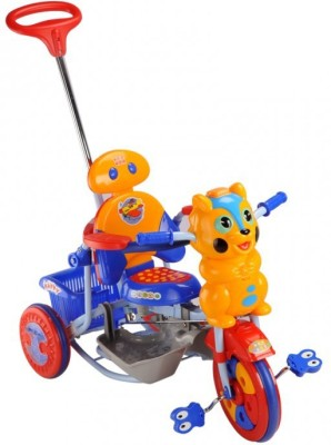 MeeMee 2 in 1 Baby Tricycle with Rocker Function with Adjustable Seat (Blue) 8904146710231 Tricycle(Blue, Yellow)