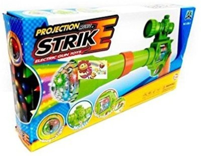 GoMerryKids Projection & Musical Strike Electric Toy Gun For Kids(Multicolor)(Multicolor)