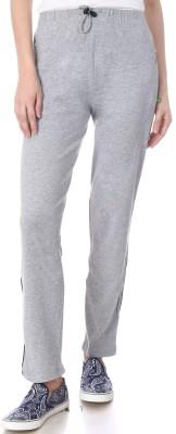Goldstroms Solid Women Grey Track Pants at flipkart