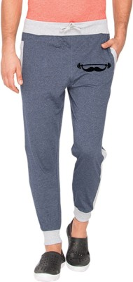 Campus Sutra Varsity Men Blue Track Pants at flipkart