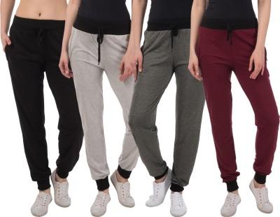 Meebaw Solid Women Grey, Grey, Black, Maroon Track Pants