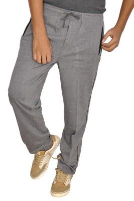 JG FORCEMAN Solid Men's Grey Track Pants at flipkart