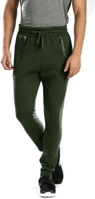 HRX by Hrithik Roshan Solid Men Green Track Pants at flipkart