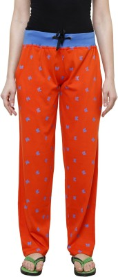 Crux & Hunter Printed Women Orange Track Pants at flipkart