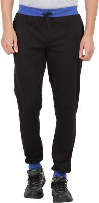 Checkersbay Solid Men Black Track Pants at flipkart