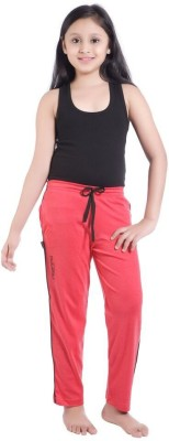 Red Ring Track Pant For Girls(Red) at flipkart