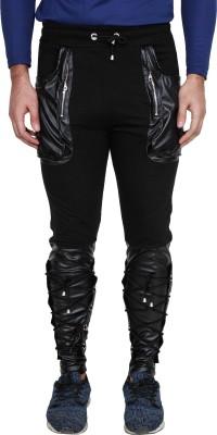 Surly Self Design Men Grey, Black Track Pants