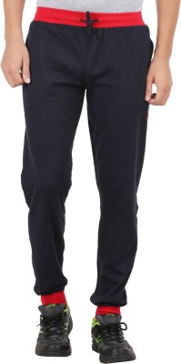 Checkersbay Solid Men Dark Blue Track Pants at flipkart