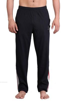 Vego Zip Pocket / Sied Panal Solid Men Black Track Pants at flipkart