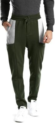 HRX by Hrithik Roshan Solid Men Green, Grey Track Pants at flipkart