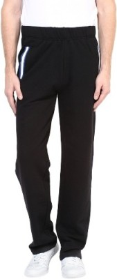 UV&W Solid Men's Black Track Pants at flipkart