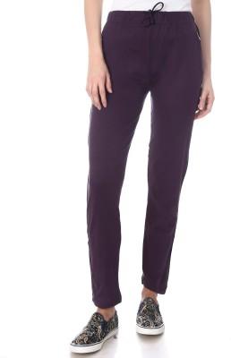 Goldstroms Solid Women Purple Track Pants at flipkart