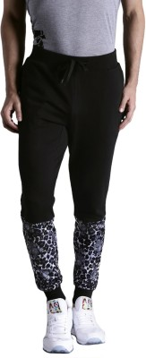 Kook N Keech Solid Men Black Track Pants at flipkart