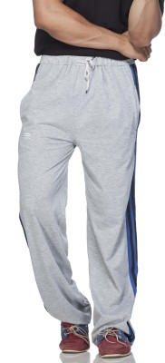 Demokrazy Striped Men's Grey Track Pants at flipkart