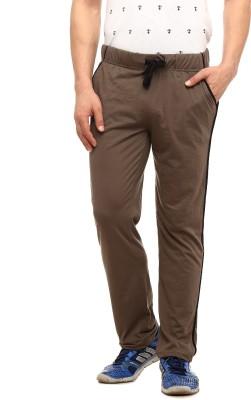 Gritstones Solid Men's Grey Track Pants at flipkart