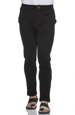 Tinted Solid Men Black Track Pants at flipkart