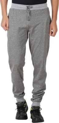 Checkersbay Solid Men Grey Track Pants at flipkart