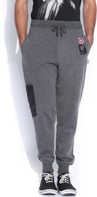 Kook N Keech Solid Men Grey Track Pants at flipkart